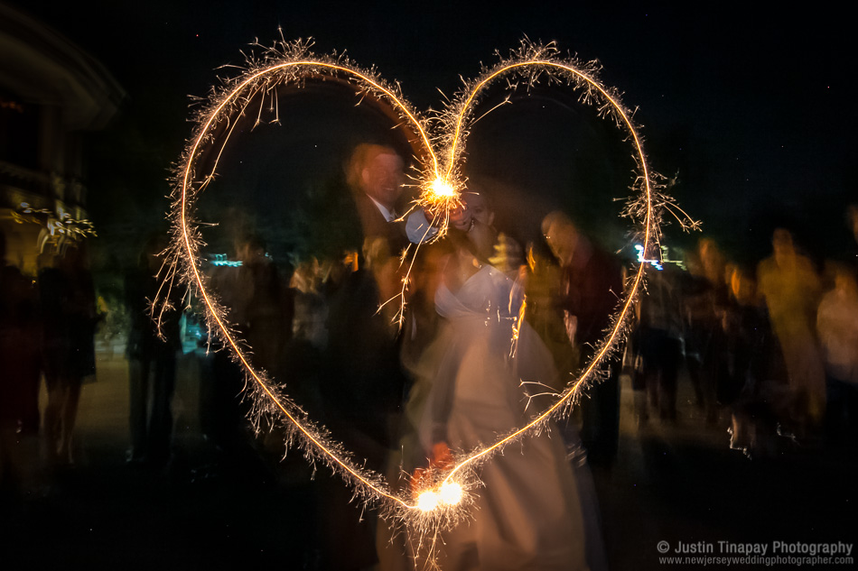 wedding sparklers photo